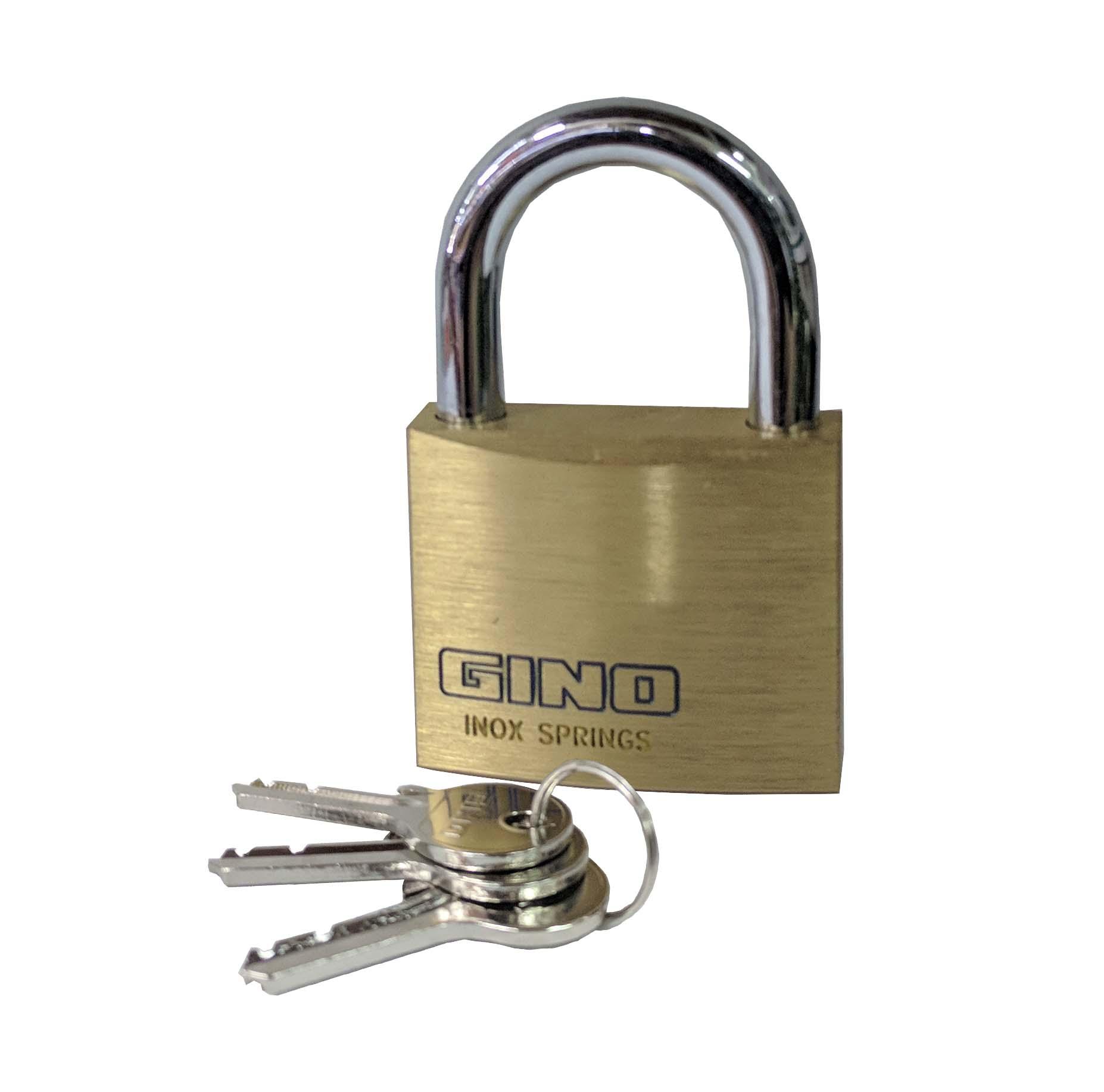 Gino Padlocks 6 Set with 3 Keys
