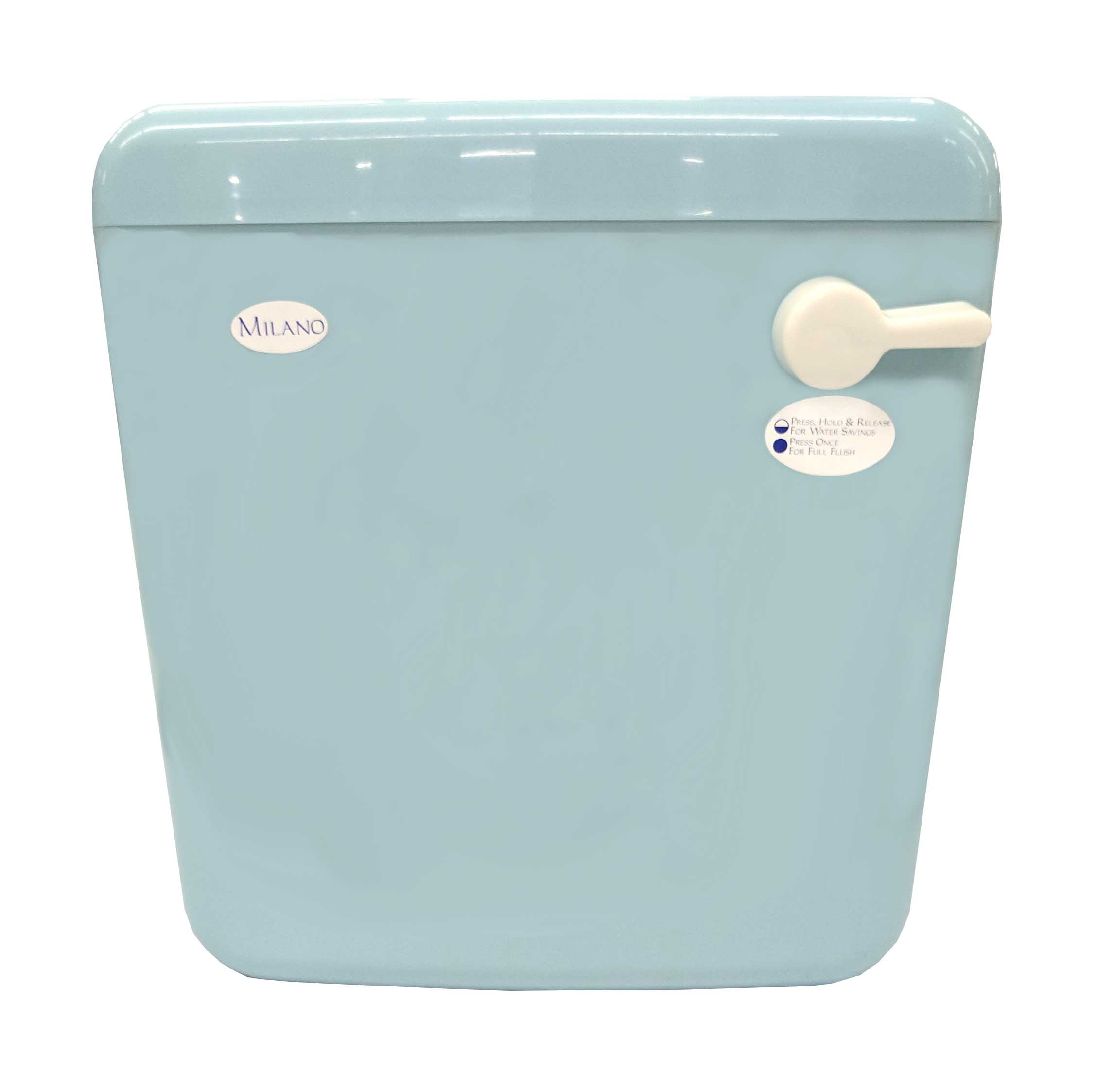Milano Cistern Front Flush Sky Blue - Quincaillerie A1\'s Online Store