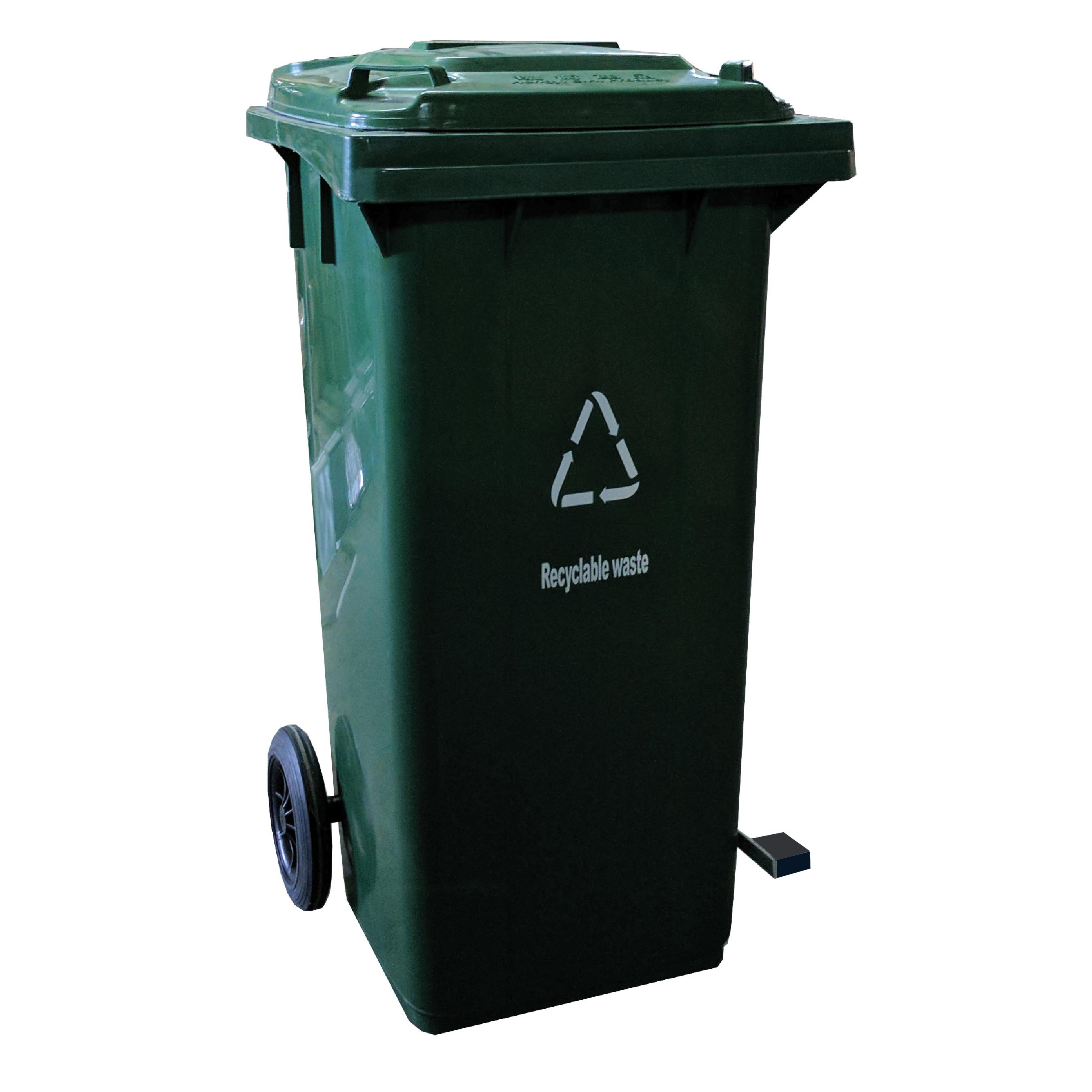 Green Garbage Bin 100Lts