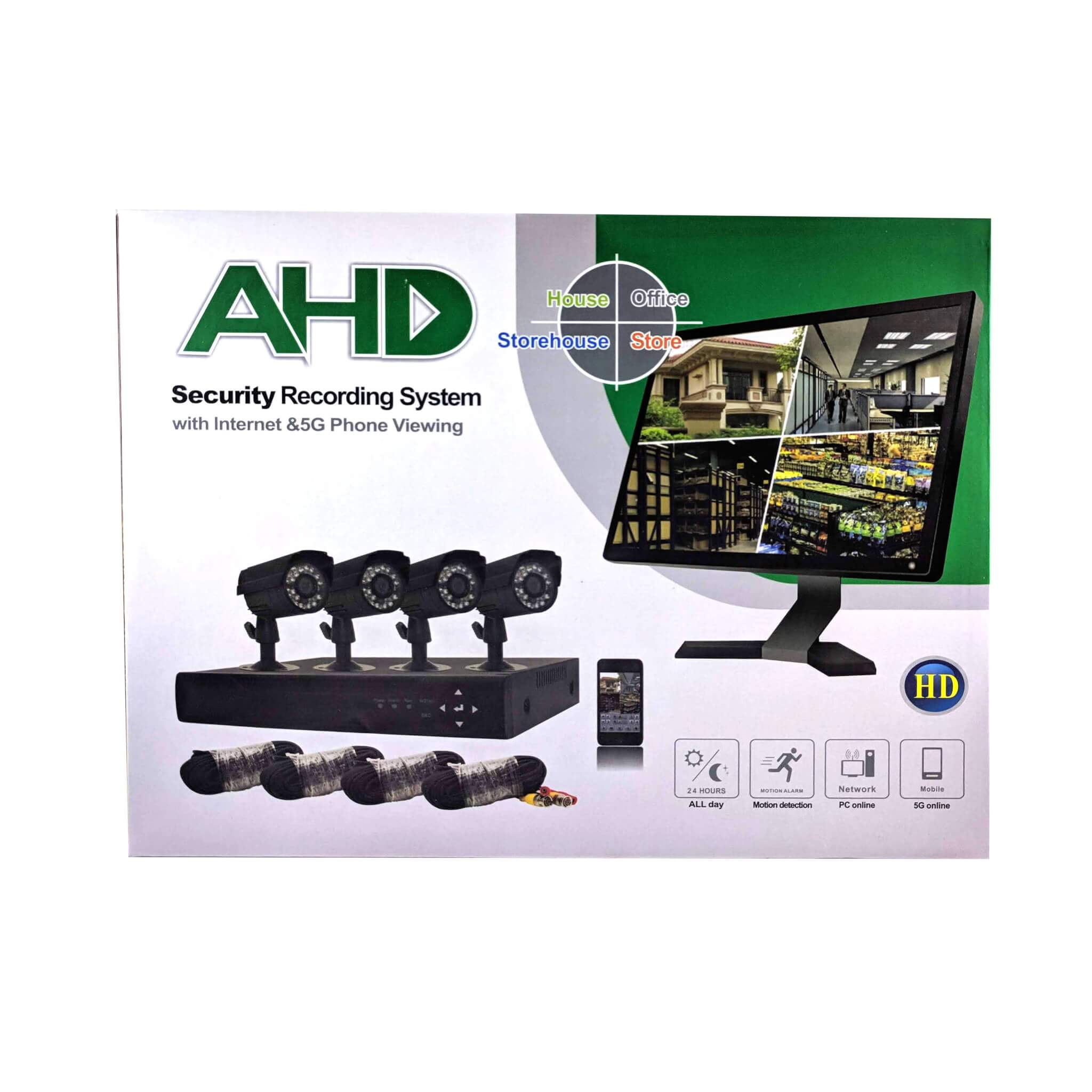 AF 4 Cameras System AHD